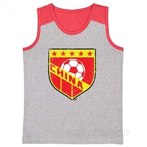 China Soccer - Distressed Badge Youth Contrast Back Tank Top